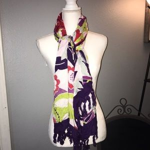 Multi Color Flower Scarf